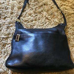 Black Leather Tignanello handbag